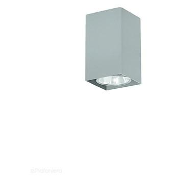 Szara lampa sufitowa SPOT, kwadratowa tuba do salonu, sypialni (1x GU10) Lampex (Nero) 499/A