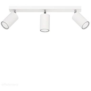 Biała lampa sufitowa na listwie regulowana, plafon SPOT (3x GU10) Lampex (Rolos) 558/3 BIA