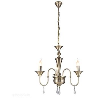 Żyrandol -świecznik, lampa patynowa wisząca do salonu (3x E14) Lampex (Andy) 602/3
