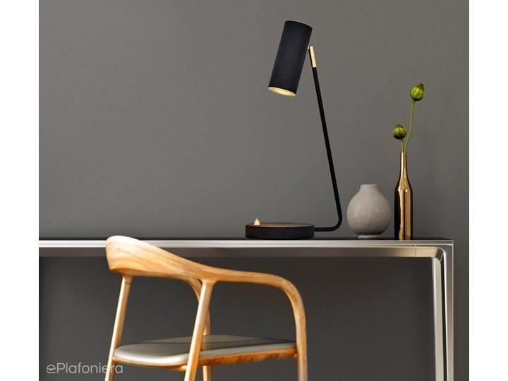 LAMPKA BIURKOWA - METALOWA - CZARNA - GU10 5W, lampka nocna, Ozcan 6317-12,19 Lampa biurkowa Lampa nocna Wysokość 46 cm Kolor Czarny