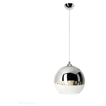 Szklana lampa wisząca - chrom, do salonu sypialni łazienki (1xE27) Lampex (Nikola) 683/1 PRO