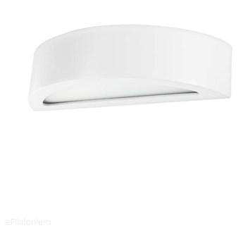 Biały, nowoczesny kinkiet do salonu sypialni (40cm, 1x E27) Lampex (Lumi) 685/K40 BIA