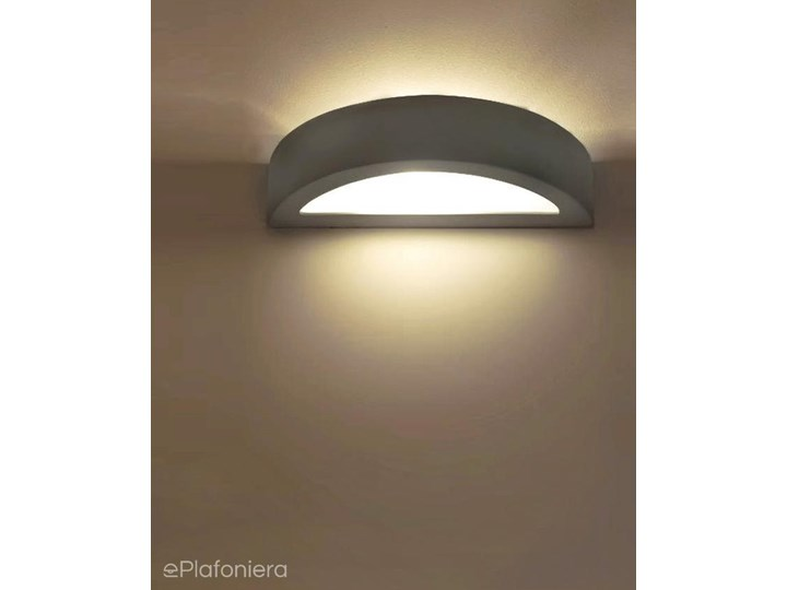 Biały, nowoczesny kinkiet do salonu sypialni (40cm, 1x E27) Lampex (Lumi) 685/K40 BIA Kinkiet ogrodowy Kategoria Lampy ogrodowe