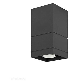 Czarna lampa sufitowa, tuba - SPOT, do salonu, kuchni (1x GU10) Lampex (Neron) 753/B CZA