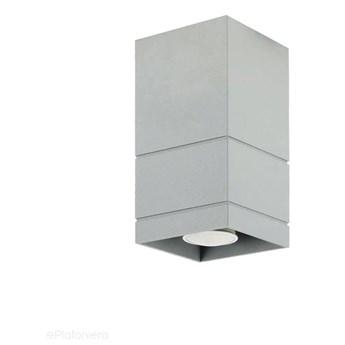 Szara lampa sufitowa, tuba - SPOT, do salonu, kuchni (1x GU10) Lampex (Neron) 753/B POP