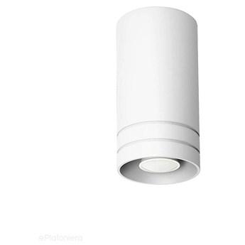 Tuba - halogen, biała lampa sufitowa SPOT do kuchni salonu (1x GU10) Lampex (Simon) 754/1P BIA
