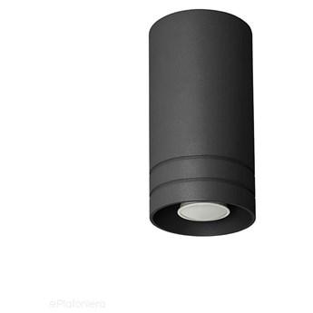 Tuba - halogen, czarna lampa sufitowa SPOT do kuchni salonu (1x GU10) Lampex (Simon) 754/1P CZA