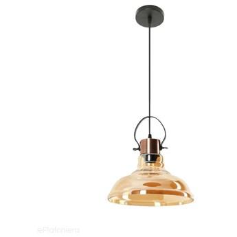 Miodowy klosz - lampa wisząca do salonu sypialni (1x E27) Lampex (Mandy) 768/1