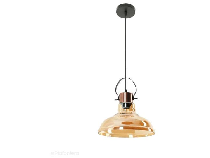 Miodowy klosz - lampa wisząca do salonu sypialni (1x E27) Lampex (Mandy) 768/1 Metal Lampa z kloszem Pomieszczenie Kuchnia Szkło Kategoria Lampy wiszące