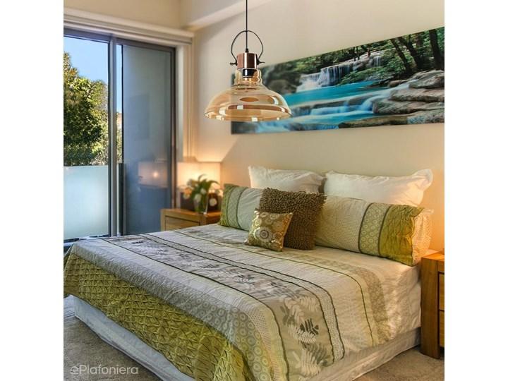 Miodowy klosz - lampa wisząca do salonu sypialni (1x E27) Lampex (Mandy) 768/1 Szkło Lampa z kloszem Metal Styl Vintage Styl Klasyczny
