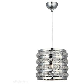 Srebrny walec 24cm - nowoczesny kryształowy żyrandol 1xE27, Lucea 8130-51-11 AREA