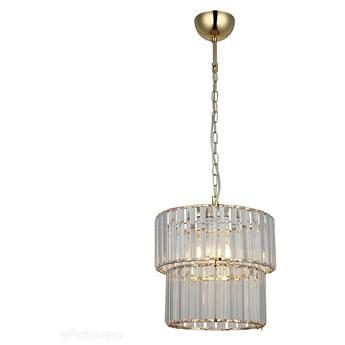 Efektowny kryształowy żyrandol 31cm - lampa wisząca pojedyncza 1xE27, Lucea 8141-02-PB1 ALDONA