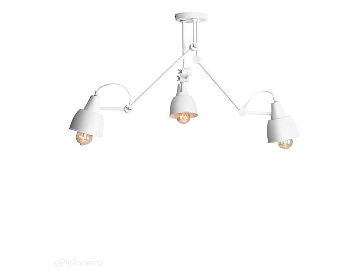 Regulowana lampa sufitowa (3 ramiona) biała plafoniera 3xE27, Aldex (Aida) 814PL/E Metal Kolor Biały Ilość źródeł światła 3 źródła