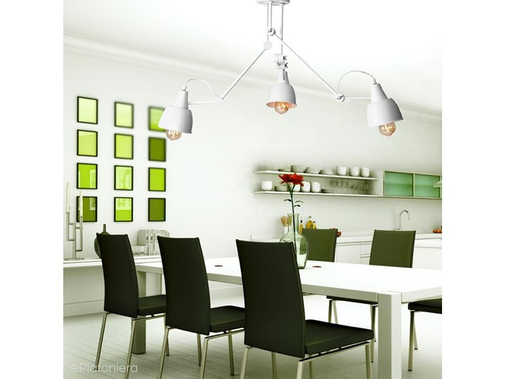 Regulowana lampa sufitowa (3 ramiona) biała plafoniera 3xE27, Aldex (Aida) 814PL/E Metal Kolor Biały