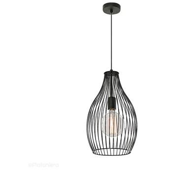 Czarna nowoczesna druciana lampa loftowa - wisząca do salonu (1x E27) Lampex (Tosya) 842/B