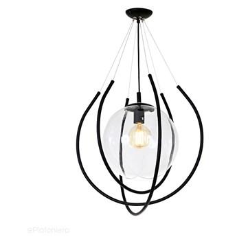Lampa wisząca ażurowa 55cm - przezroczysta kula (czarne rurki, 1xE27) Aldex (from) 871G1/DK