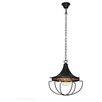 Czarna lampa wisząca pojedyncza - loft (złota), 31cm 1xE27, Aldex (Danton) 902G1