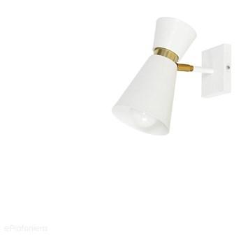 Biały reflektor, regulowana lampa ścienna, kinkiet 1xE27, Aldex (kedar) 988C