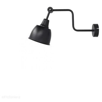 Czarna regulowana lampa ścienna - kinkiet, 1xE27, Aldex (Frik) 990C2