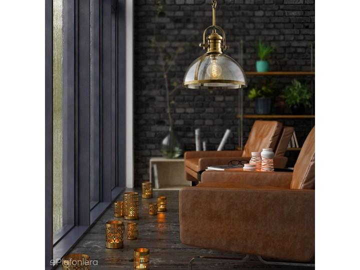 W nowoczesnym stylu - lampa wisząca, loftowa - retro 1xE27, Avonni AV-5063-1E Lampa z kloszem Styl Vintage Metal Szkło Styl Klasyczny