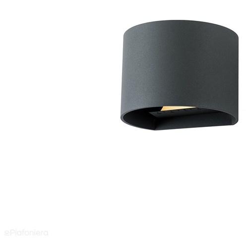 Lampa zewnętrzna - kinkiet, ogrodowa grafit/czarny IP 44 (2x3W, 3000K) (system 12V LED) Goura, Grafitowy