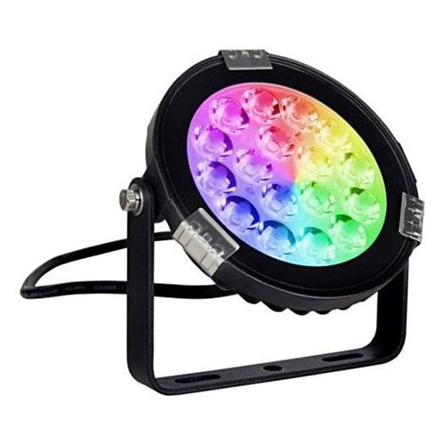 Reflektor kierunkowy, lampa ogrodowa zewnętrzna IP 66 (9W, RGB + 2700K-6500K) (system 12V LED) Moni