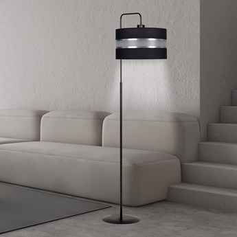 LARO LP1 BLACK 1000/LP1 BLACK lampa podłogowa czarna duży abażur nowoczesna