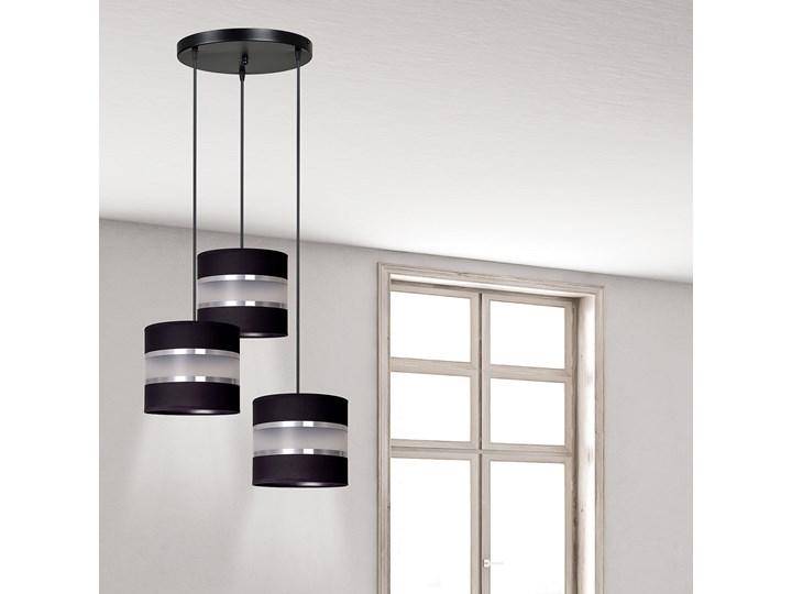 LARO 3 BLACK PREMIUM lampa wisząca abażury regulowana nowoczesna Lampa z abażurem Metal Pomieszczenie Salon