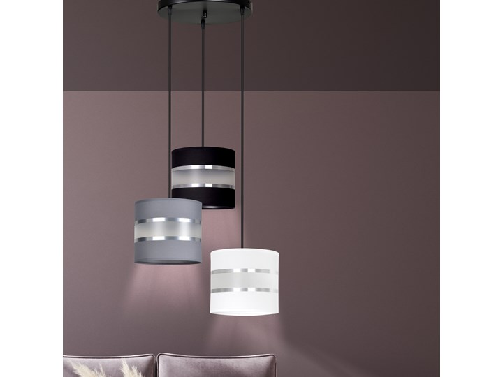 LARO 3 BL MIX PREMIUM lampa wisząca abażury regulowana nowoczesna Lampa z abażurem Metal Kategoria Lampy wiszące