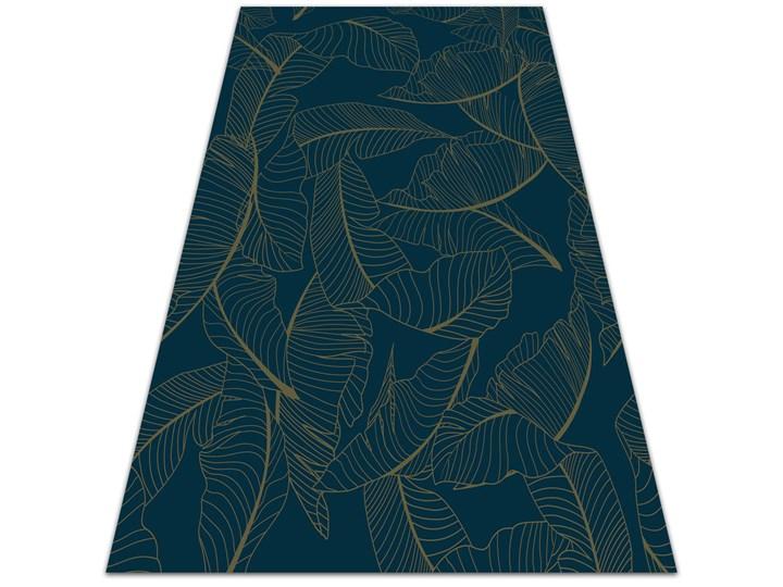 Modny winylowy dywan Szkielet liści