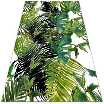 Modny winylowy dywan Palmowe liście