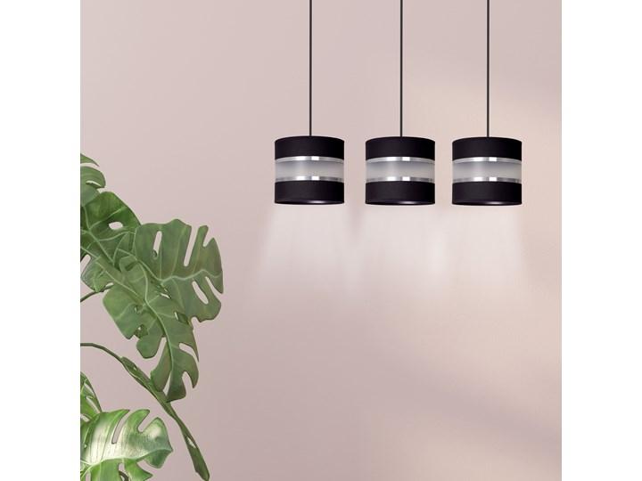 LARO 3 BLACK lampa wisząca abażury regulowana wysokość nowoczesna Funkcje Brak dodatkowych funkcji Lampa z abażurem Metal Kategoria Lampy wiszące