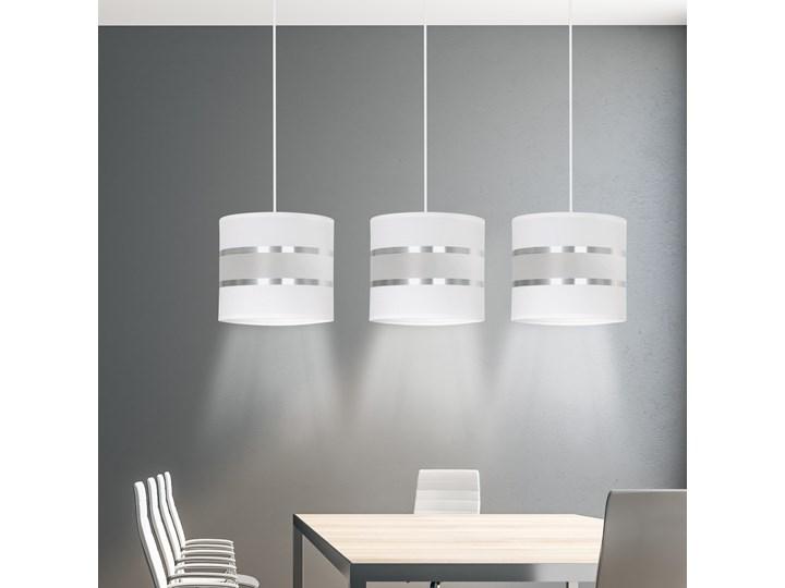 LARO 3 WHITE lampa wisząca abażury regulowana wysokość nowoczesna Metal Ilość źródeł światła 3 źródła Lampa z abażurem Funkcje Brak dodatkowych funkcji