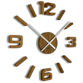Drewniany zegar ścienny dębowy EKO 75cm