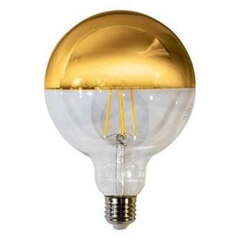 Żarówka Filamentowa LED 7,5W E27 G125 kula GOLD barwa ciepła 2700K EKZF1435