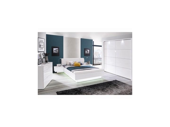 Salony Agata  Komplet GLOSSY, łóżko + 2 szafki nocne Pomieszczenie Sypialnia Kategoria Zestawy mebli do sypialni