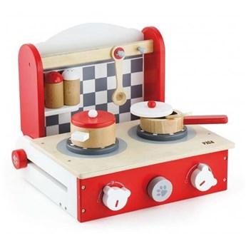 Viga Toys Drewniana rozkładana Kuchnia z blatem do gotowania