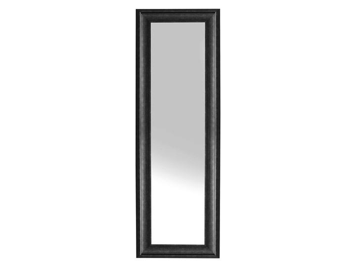 Lustro ścienne wiszące czarne 51 x 141 cm syntetyczna rama styl skandynawski minimalistyczny