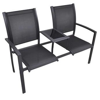 Metalowa ławka ogrodowa Lemi - czarna