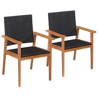 Zestaw krzeseł ogrodowych Regia - czarno-brązowy