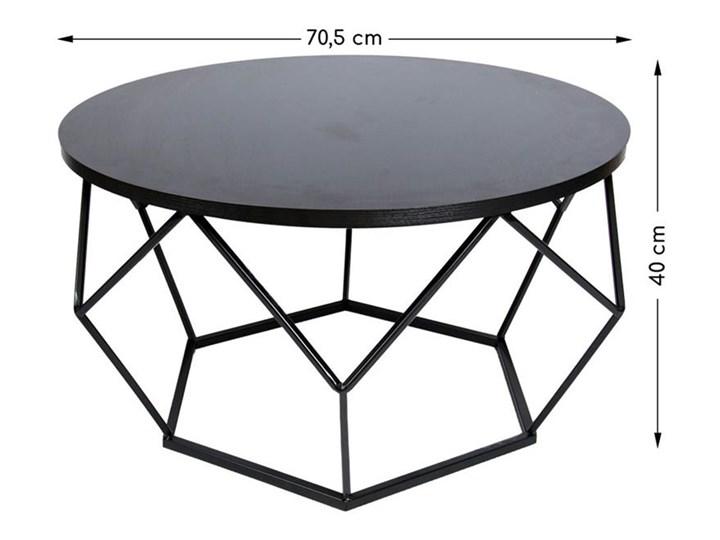 Stolik kawowy Diamond 70 cm czarny Metal Wysokość 40 cm Płyta MDF Stal Kategoria Stoliki i ławy Styl Industrialny