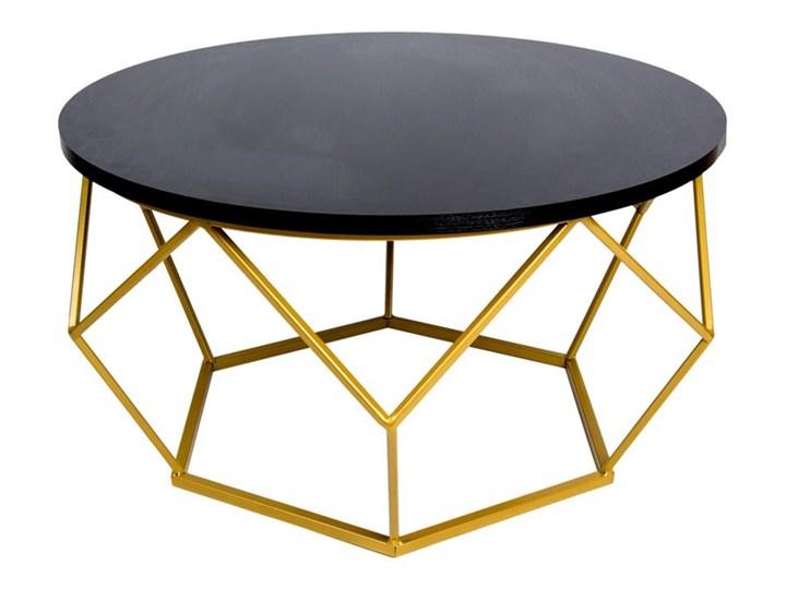 Stolik kawowy Diamond 70 cm złoto czarny