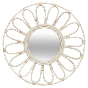 Okrągłe lustro ścienne kwiat 56 cm
