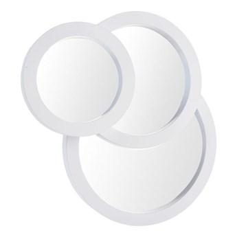 Lustro ścienne trzy okręgi białe