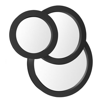 Lustro ścienne trzy okręgi czarne