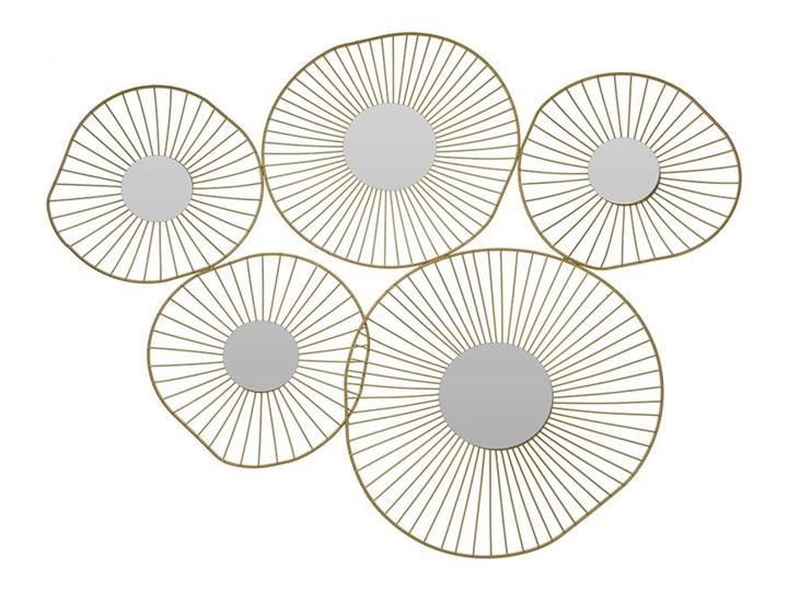 Lustro ścienne złote 5 okręgów 78 cm