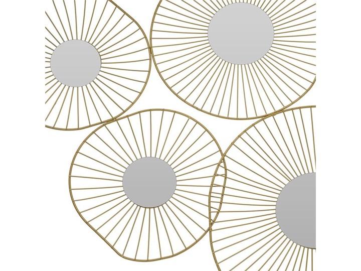 Lustro ścienne złote 5 okręgów 78 cm Styl Glamour Kolor Złoty