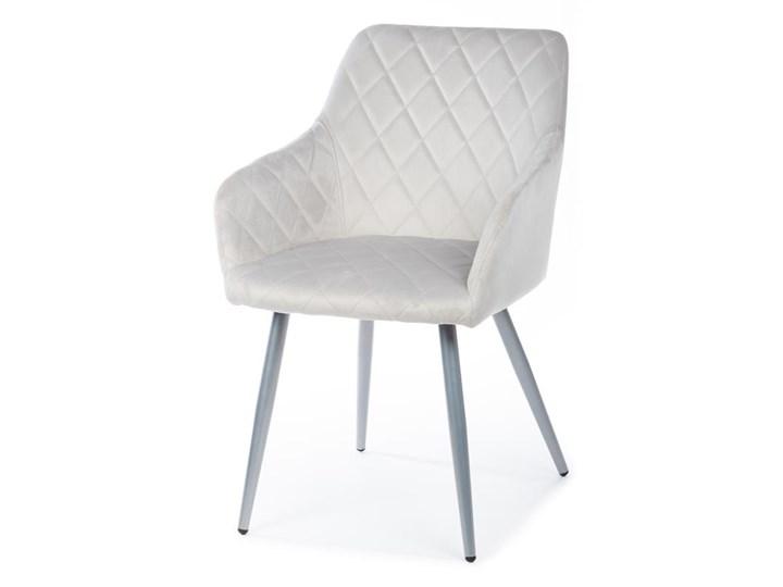 Krzesło Rico Light Gray Tkanina Metal Welur Kategoria Krzesła kuchenne