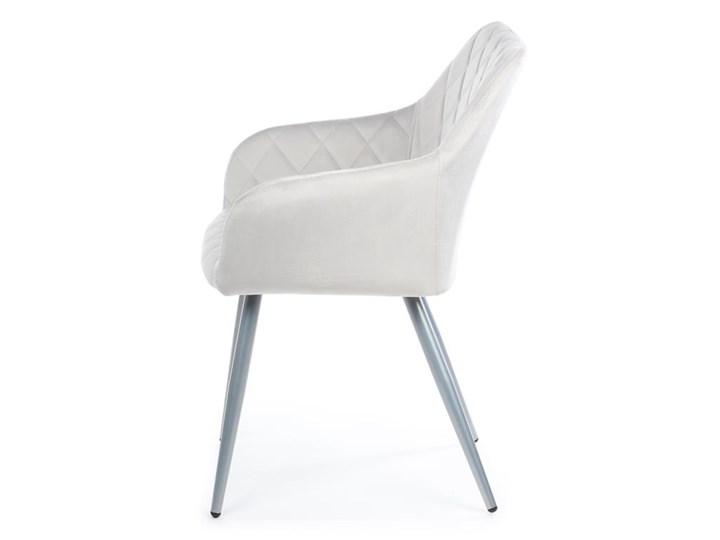 Krzesło Rico Light Gray Metal Kategoria Krzesła kuchenne Welur Tkanina Styl Nowoczesny