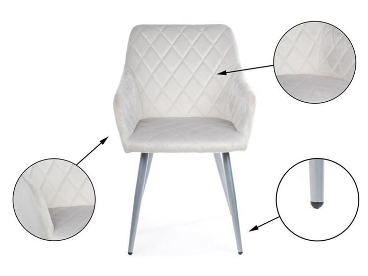 Krzesło Rico Light Gray Tkanina Styl Nowoczesny Metal Welur Kategoria Krzesła kuchenne